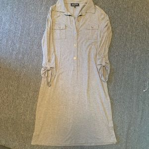 Gray Cotton Dress